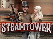 Пятибарабанный слот с бесплатными вращениями - Steam Tower